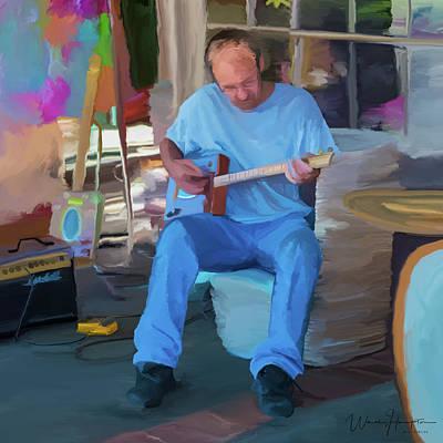 Painting - Blues Musician   Ron Davison by Wally Hampton