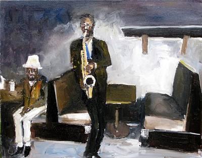 Blues Night Art Print by Udi Peled