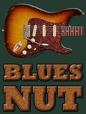 Digital Art - Blues Nut Shirt by WB Johnston