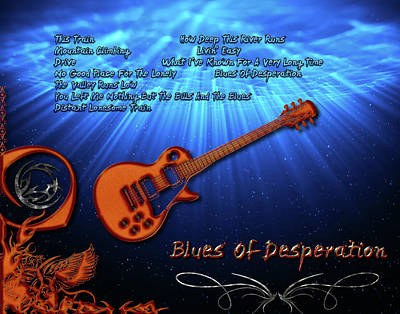 Digital Art - Blues Of Desperation by Michael Damiani