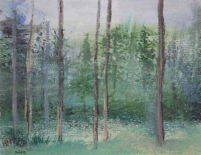 Wildwood Park Painting - Blues Of The Evergreens by Yossi Sigura