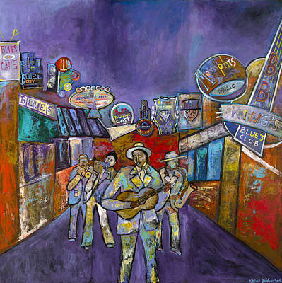 Beale Street Painting - Blues On Beale St. by Kelvin Baldwin