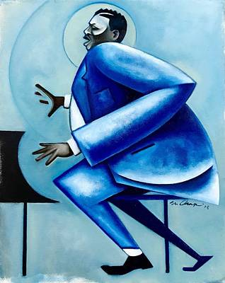 Wall Art - Painting - Blues/ Oscar by Martel Chapman