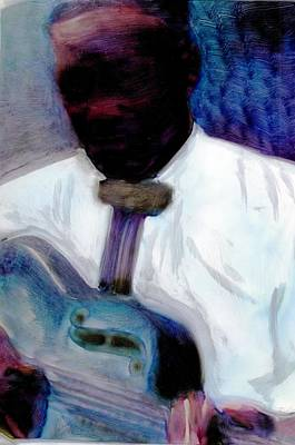 Art Print featuring the painting Blues Pickin by FeatherStone Studio Julie A Miller