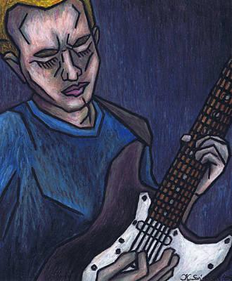 Blues Player Art Print by Kamil Swiatek