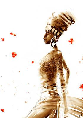 Digital Art - blues Queen by Fabrizio Uffreduzzi