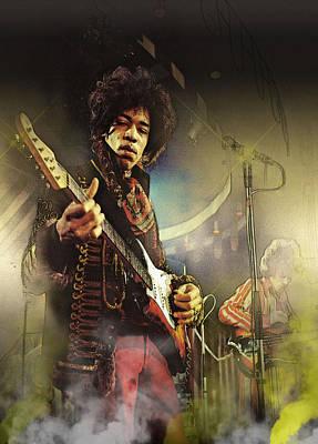 Blues-rock Power Art Print by Don Kuing