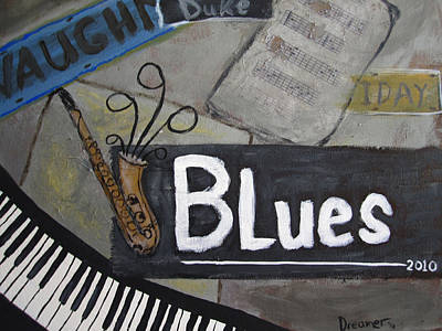 Billie Holiday Painting - Blues by Sherry Haney