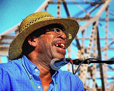 Photograph - Blues Singer Under The King Bridge by C H Apperson
