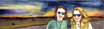 Blues Sisters Art Print by Nancy  Ethiel