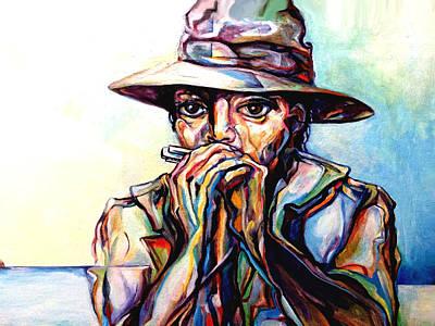 Blues Traveler  Art Print by Lloyd DeBerry