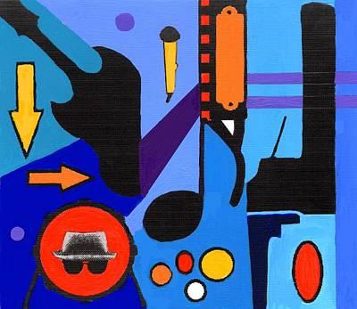 Blues1 Art Print