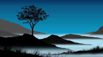 Bluescape Digital Art - Bluescape by Chris Brannen