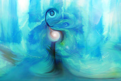 Digital Art - Bluescape by Linda Sannuti