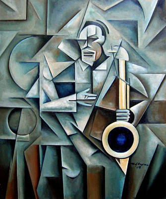 Wall Art - Painting - Bluesnik by Martel Chapman