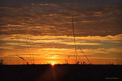Photograph - Bluestem Prairie Sunrise by Kathy M Krause