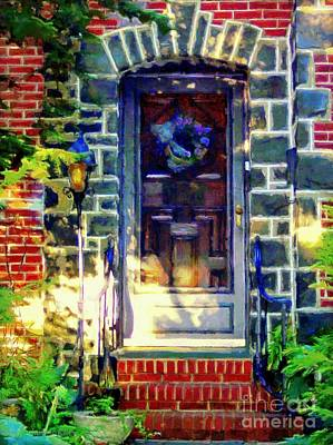 Stone Planter Photograph - Bluestone Door by Janine Riley