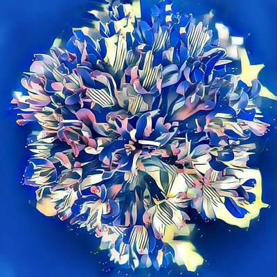 Painting - Bluesy Floral by Anne Sands
