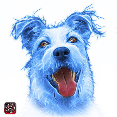 Painting - Blueterrier Mix 2989 - Wb by James Ahn