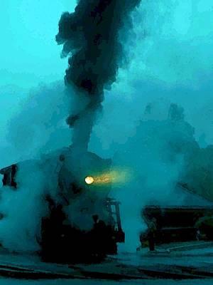 Photograph - Bluetone Ghost Train by Carolyn Jacob