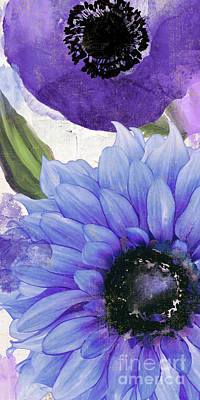 Periwinkle Painting - Blue Then Yellow I by Mindy Sommers