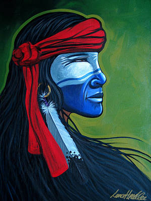 Painting - Bluface by Lance Headlee