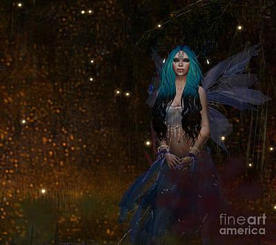 Digital Art - Blufae by Georgina Hannay