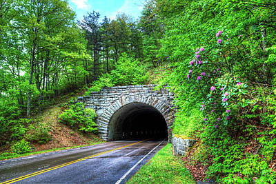 Photograph - Bluff Mountain Tunnel by Dale R Carlson