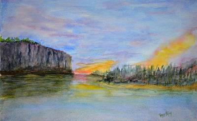 Painting - Bluffs At Sunset by Peggy King