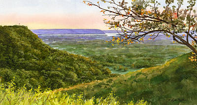 Painting - Bluffs To River by Phyllis Martino