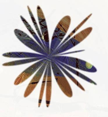 Digital Art - Bluish Brown Blossom by Angela L Walker