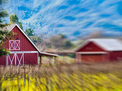 Photograph - Blurred Barn by Robin Zygelman
