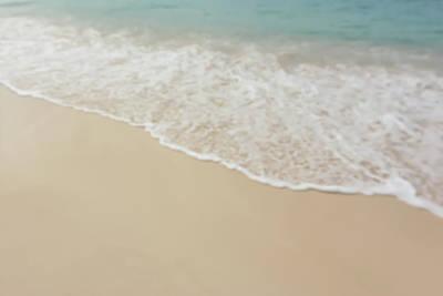 Blurred Beach Background Art Print