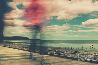Photograph - Blurred Boardwalker by Marc Daly