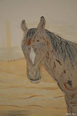 Blurred Horse Art Print