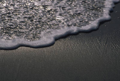 Ventura California Photograph - Blurred Motion Of A Wave On The Shore by Stacy Gold