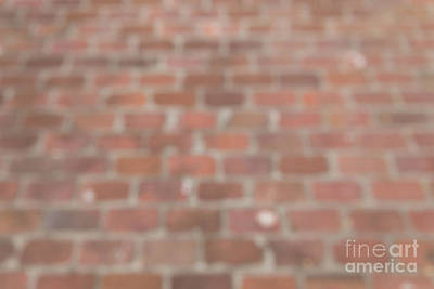 Photograph - Blurred Orange Brick Wall,floor Exterior,interior Pattern Design by Jingjits Photography