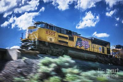 Photograph - Blurred Rails by Bitter Buffalo Photography