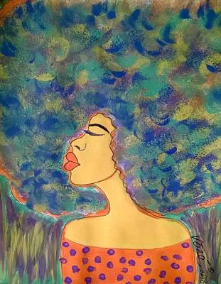 Painting - Cloudy Mind by Yvonne Carson