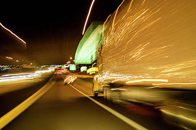 Photograph - Blurred Trucking On Highway 70 by Garry McMichael