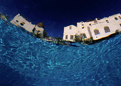 Blurred View Of A Hotel From Underwater Art Print by Sami Sarkis