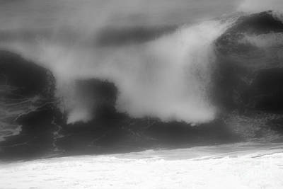 Photograph - Blurry Breakers Black And White by Adam Jewell