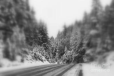 Photograph - Blurry Flurries Ahead by Marie Neder