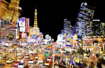 Photograph - Blurry Vegas Nights II by Ricky Barnard