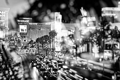 Photograph - Blurry Vegas Nights IIi by Ricky Barnard