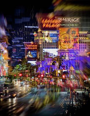 Photograph - Blurry Vegas Nights by Ricky Barnard