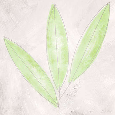 Mixed Media - Blush Bamboo- Art By Linda Woods by Linda Woods
