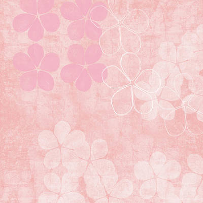 Mixed Media - Blush Blossoms 1- Art By Linda Woods by Linda Woods