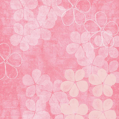 Mixed Media - Blush Blossoms 2- Art By Linda Woods by Linda Woods