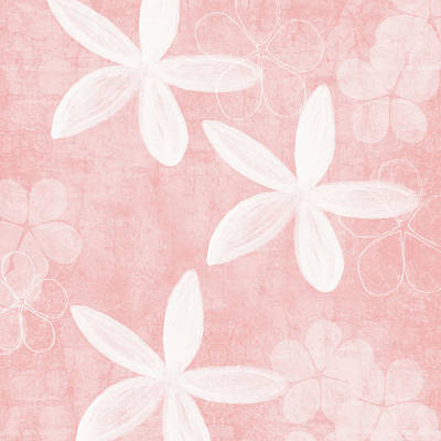 Mixed Media - Blush Blossoms 3- Art By Linda Woods by Linda Woods